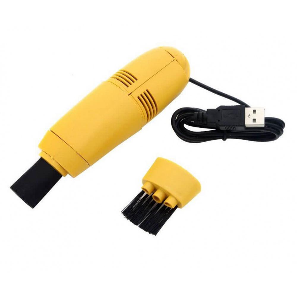 Mini USB Vacuum Cleaner Dust Brush DIY Tool For Laptop PC Computer Smartphone Kit Yellow