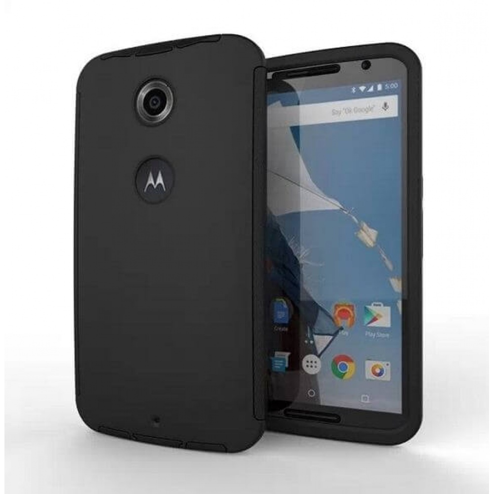 TPU Case for Motorola Nexus 6 Back Cover Black