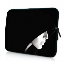 "Black Hooded Lady Soft Netbook Laptop Sleeve Case Bag Universal For 13"" inch 13.3"" Macbook Pro Air 13.3"" Apple Macbook Pro Retina"