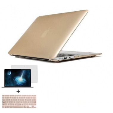 wholesale dealer 3c1c9 bd4b5 New Matte Case For Apple Macbook Air 13 Laptop Bag For Macbook 13.3  inch+Gold Keyboard Cover+Film