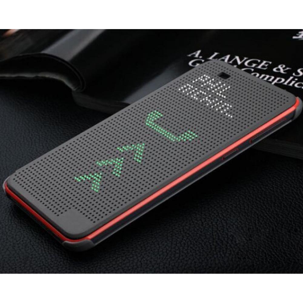 classic fit 423d8 3e6d0 Luxury Dot View Flip Case for HTC Desire 820 Gray