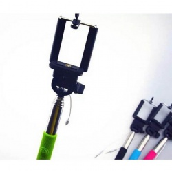 green-selfie-stick-wired-shutter-button-buynowcy-cyprus