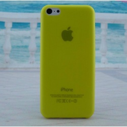 Yellow thin back cover case iPhone 5c