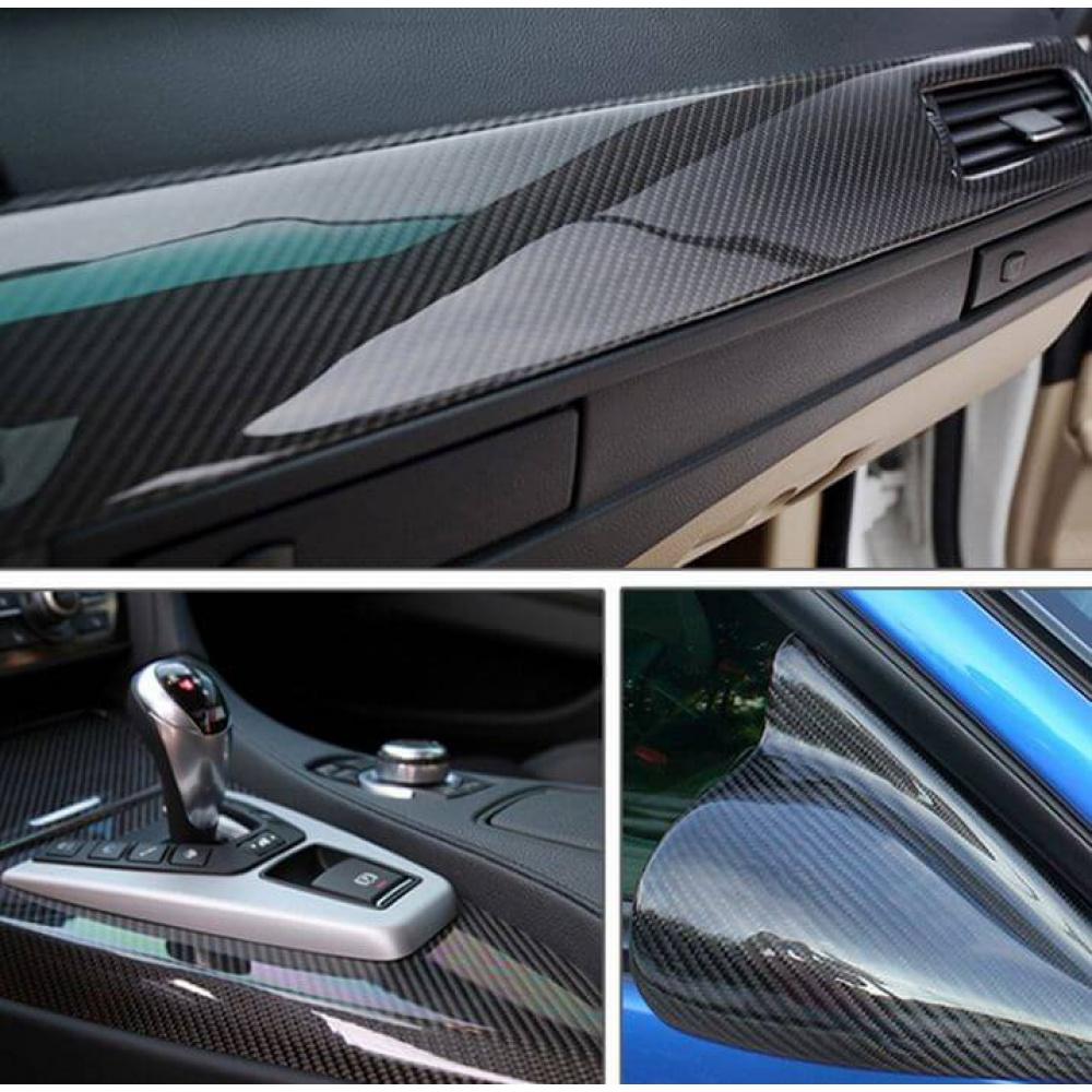 High Glossy Carbon Fiber Vinyl Film 5D Car Styling Wrap Motorcycle Car 10x152cm
