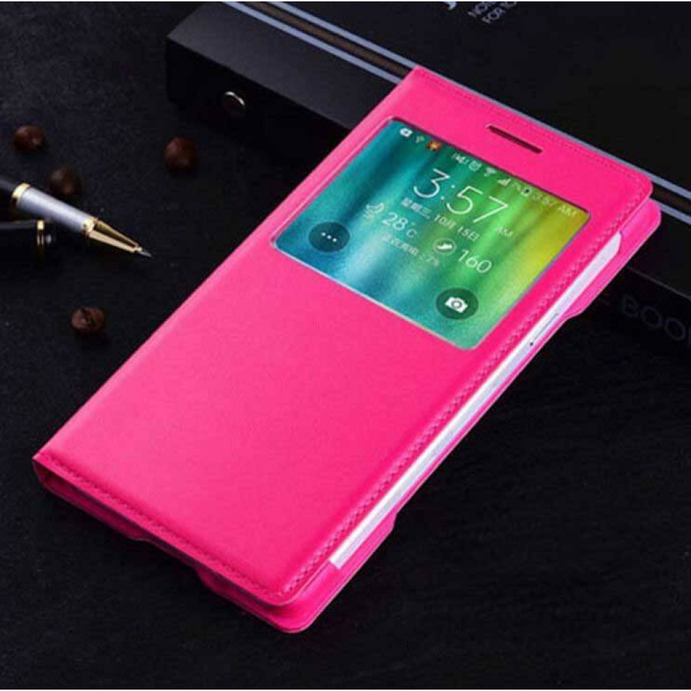 Flip Case For Samsung Galaxy A7 Smart View Rose