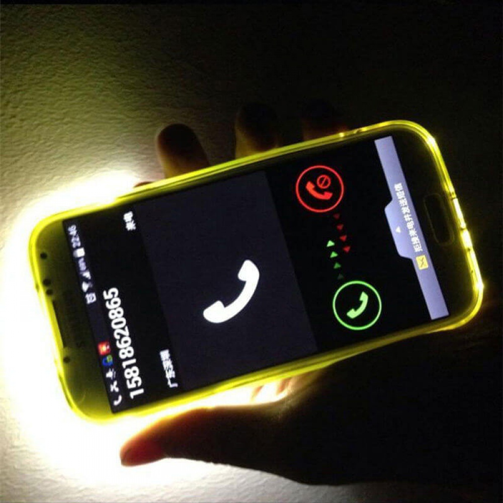 superior quality 36f98 8fcc2 Incoming Call LED Flashing Light Up Case Cover Skin for Samsung ...