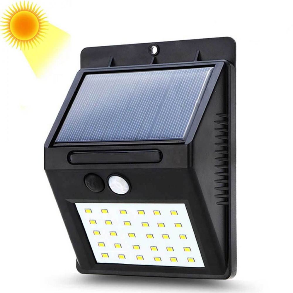 Smart 20 Led Solar Wall light Security PIR Motion Sensor