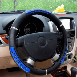 Dragon Design Leather Auto Car Steering Wheel Cover