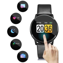 OUKITEL W1 Bluetooth Smart Watch ip67 waterproof Heart Rate Wristband - Black