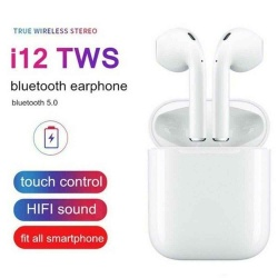 i12 TWS Bluetooth 5.0 Earphone Smart Touch Control Wireless Earbuds