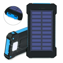Solar Power Bank 30000mAh Waterproof Portable Fast Charging