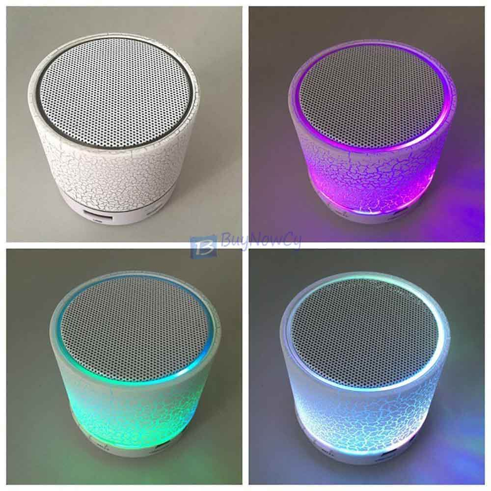 Bluetooth Wireless FM Stereo Mini Speaker For SmartPhone Tablet Mosaic White