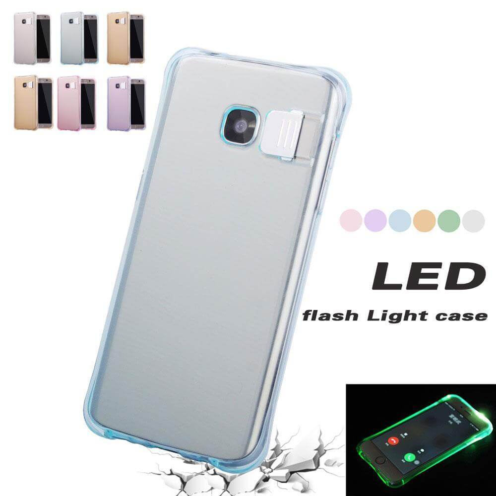 huge selection of f3641 abe91 Incoming Call LED Flashing Light Up Case Cover Skin for Samsung Galaxy S7  Edge