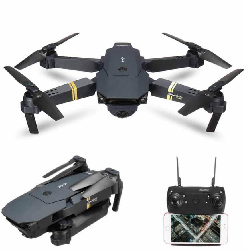 Eachine E58 WiFi DRONE Foldable RC Wide Angle HD Camera Quadcopter + 3 Batteries