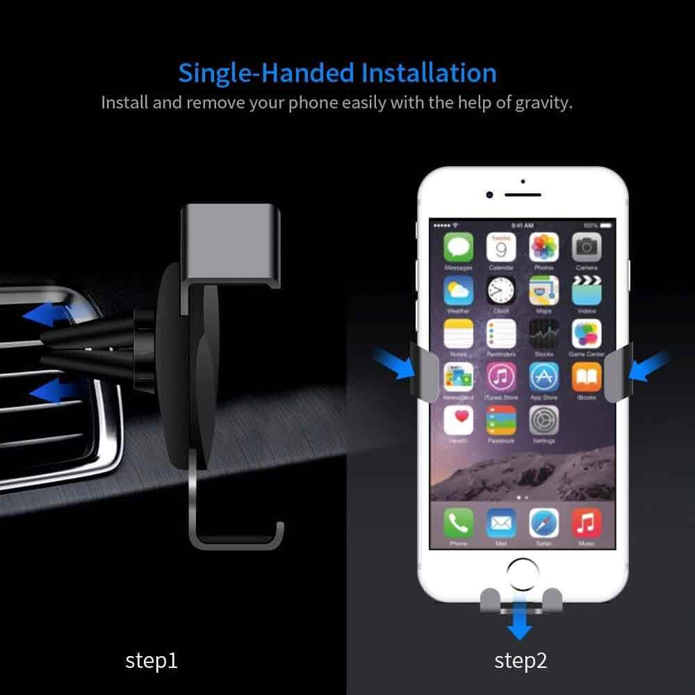 JUSFYU Phone Gravity Air Vent Car Holder