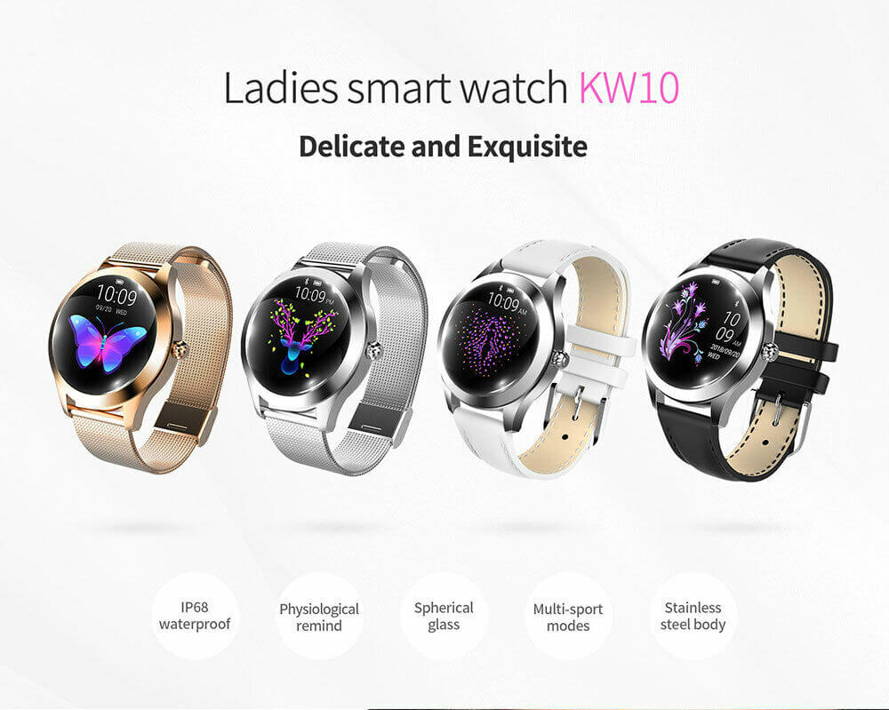kw10 women smart watch bracelet